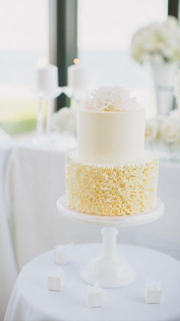 2 tier ruffle cake