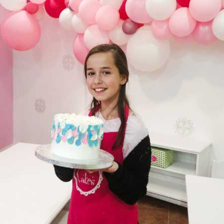 Pink apron for child